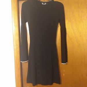 Theory Long Sleeve dress with White Trim